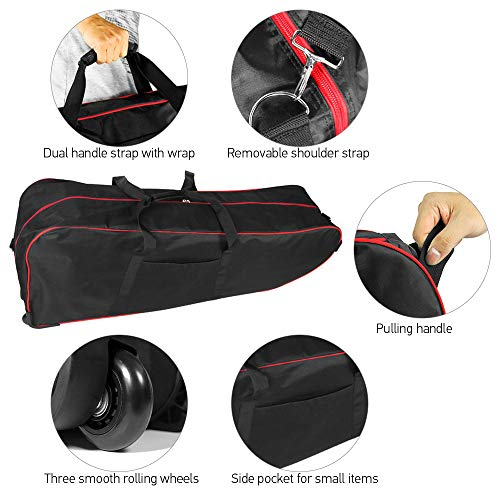 Lixada Rucksack Tragbare Scooter-Tasche, Faltbare Scooter-Tragetasche mit großer Kapazität für die 10-Zoll-Rollertasche mit Rollen - 5
