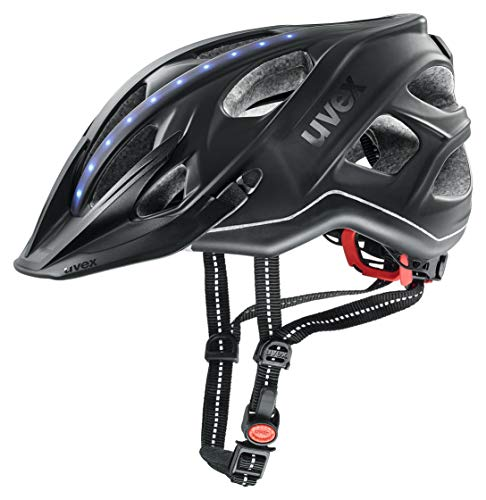 Uvex City light Helm, Grau Matt - LED-Streifen