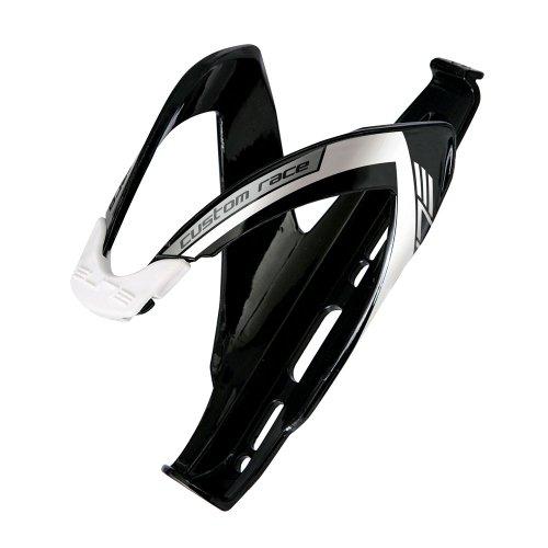 Elite Flaschenhalter Custom Race schwarz/weiß glänzend
