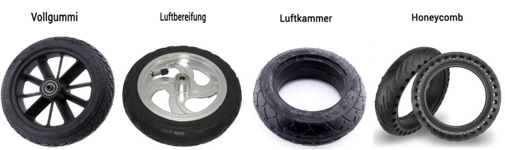 E-Scooter Reifen - Übersicht