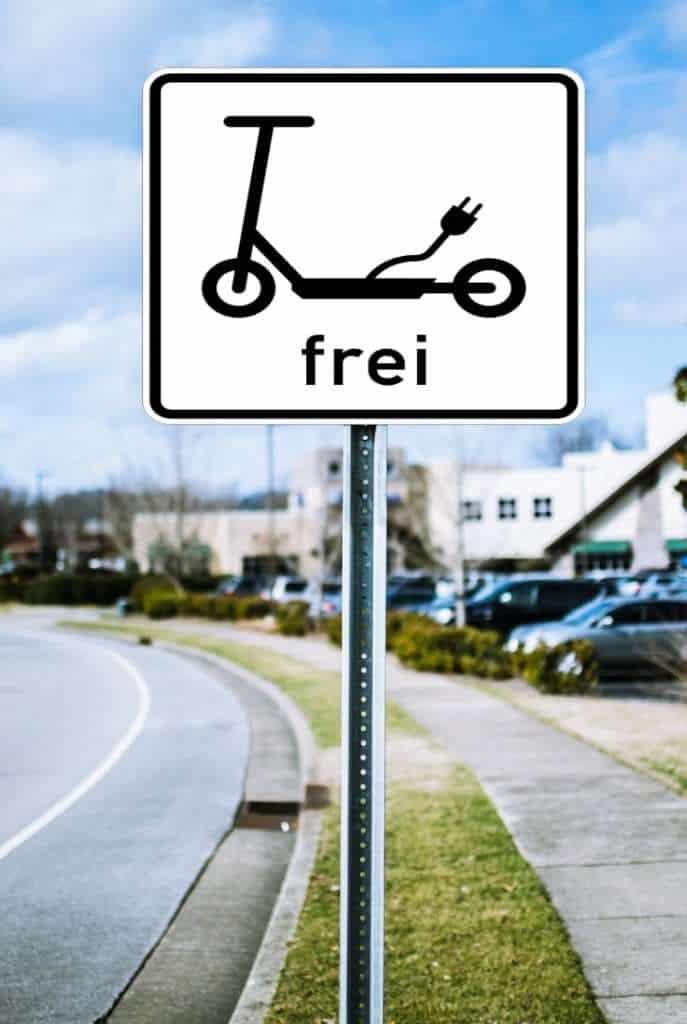 E-Scooter Schilder