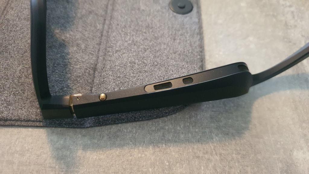 Bose Frames Alto Testbericht E-Scooter - Multifunktionstaste und Lautsprecher