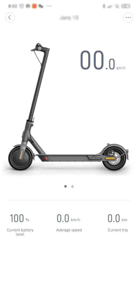 Xiaomi Mi Scooter 1S Test - App Startseite