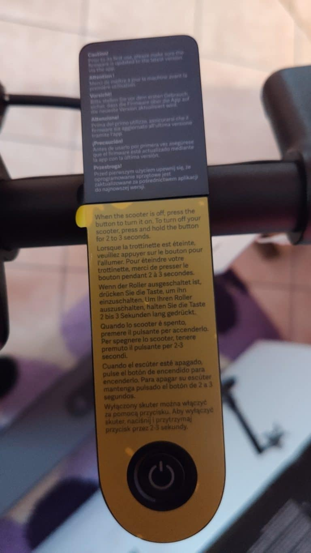 Xiaomi Mi Scooter 1S Test - Hinweise Display