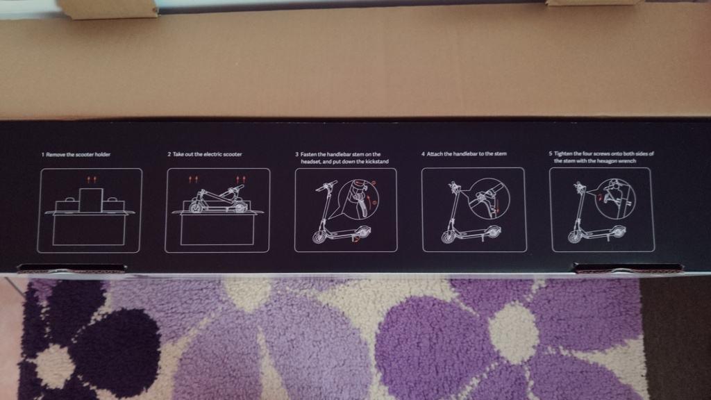 Xiaomi Mi Scooter 1S Test - Verpackung Hinweise